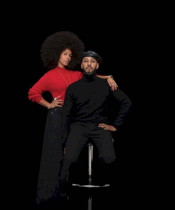 Alicia Keys (izq.), Swizz Beatz (der.) - Dean Collection 20 St
