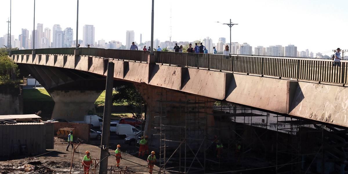 Ponte do Jaguaré será interditada no sentido centro a partir de segunda-feira