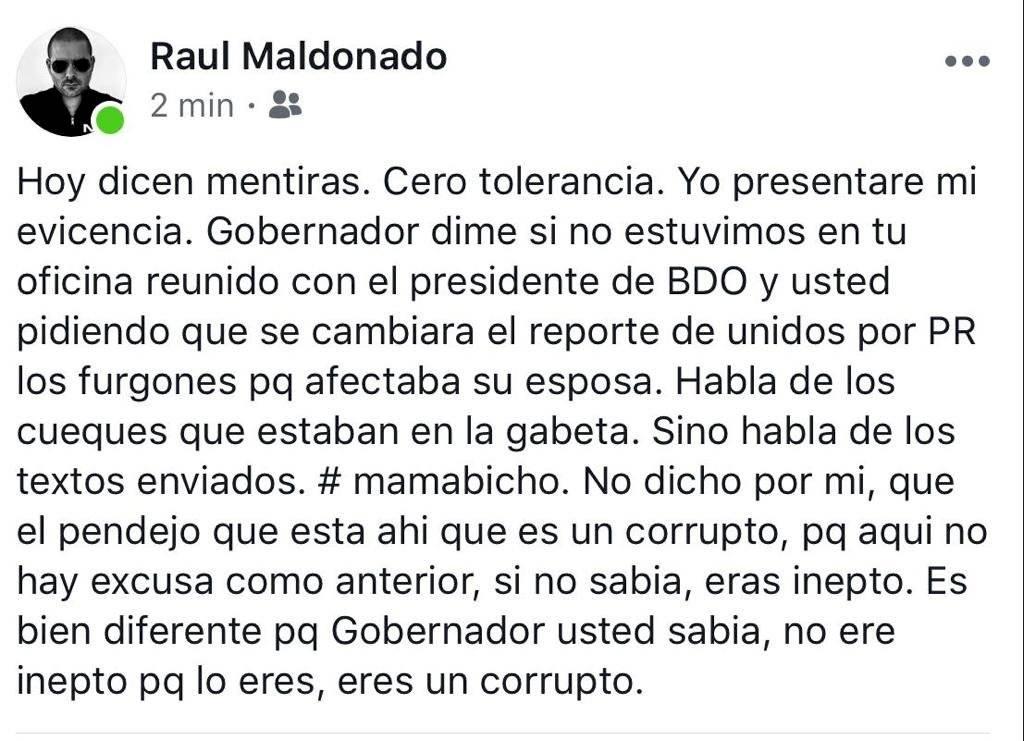 Comentario de Raúl Maldonado