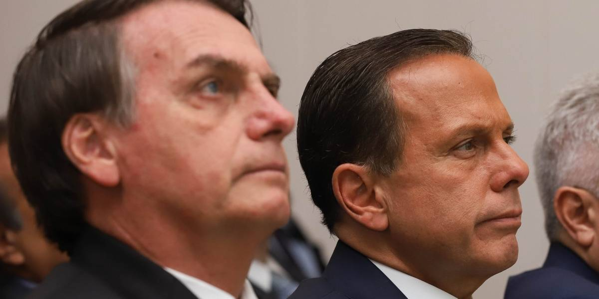 Bolsonaro provoca Doria e fala em eleições presidenciais de 2022
