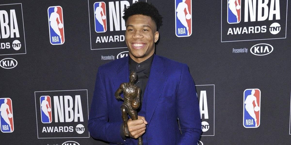 Giannis Antetokounmpo fue elegido el MVP de la temporada 2018-2019 de la NBA