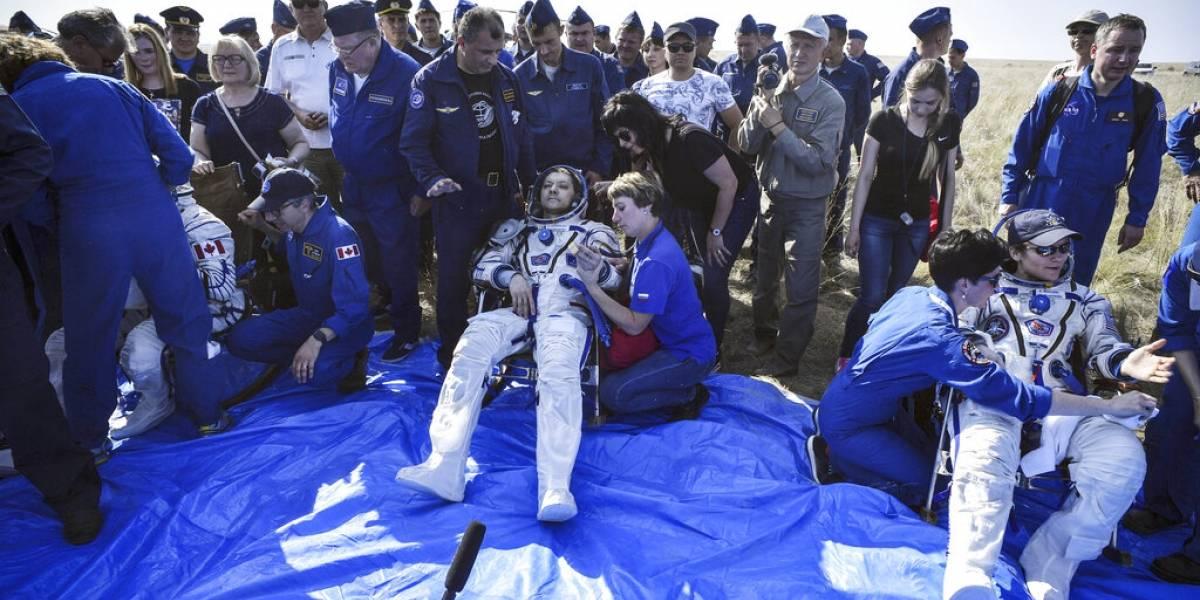 Astronautas de Rusia, Canadá y Estados Unidos vuelven a la Tierra