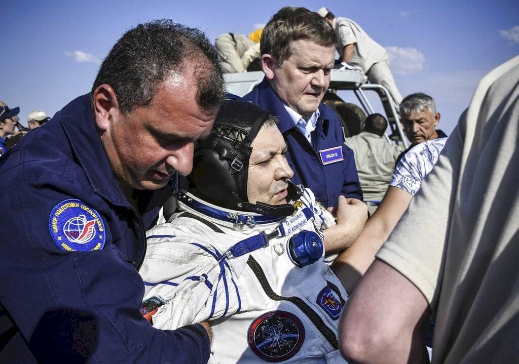 Regreso de astronautas a la Tierra Foto: AP