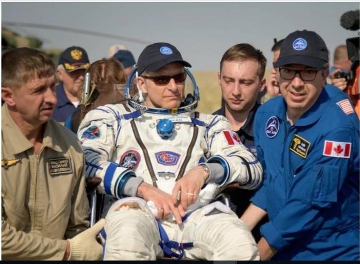 Tres astronautas regresan a la Tierra luego de vivir 6 meses en la Estación Espacial