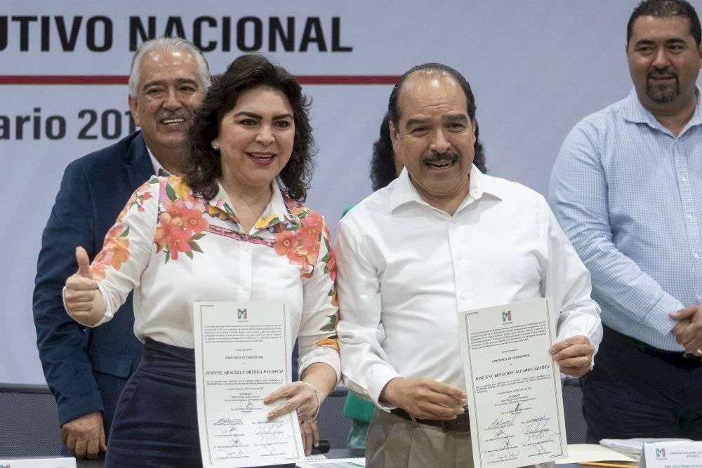 Ivonne Ortega y José Encarnación Alfaro