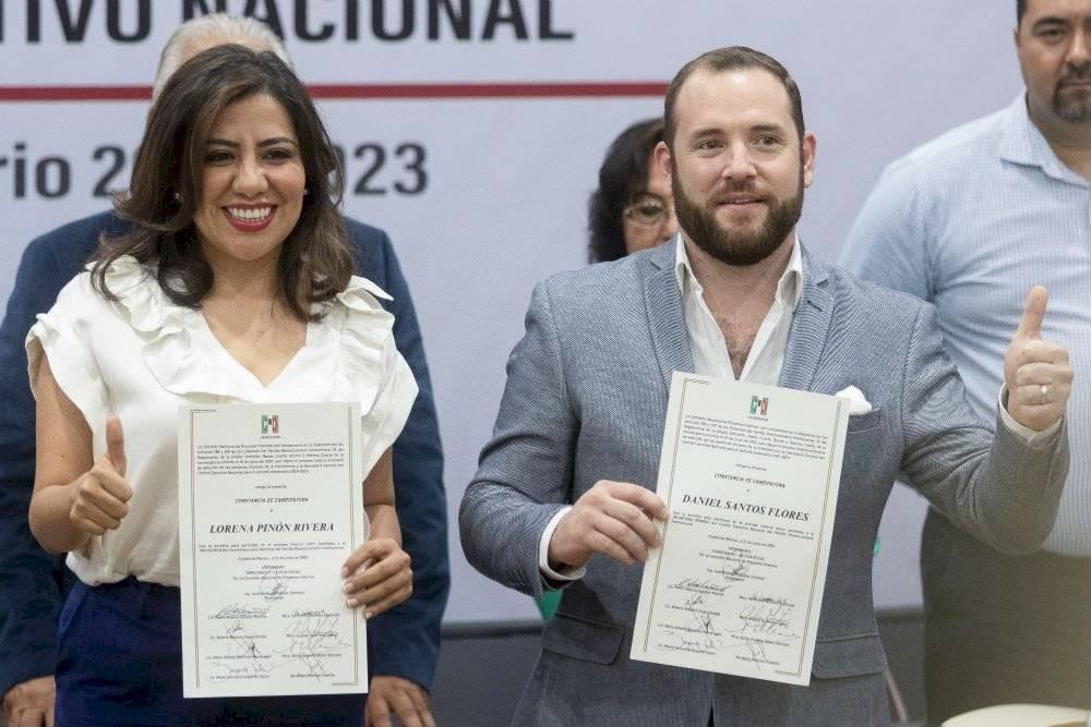 Lorena Piñón Rivera y Daniel Santos Flores