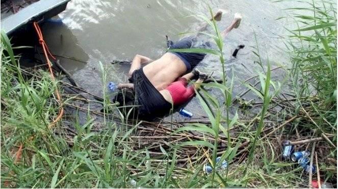 Padre e hija murieron abrazados al intentar cruzar a Estados Unidos
