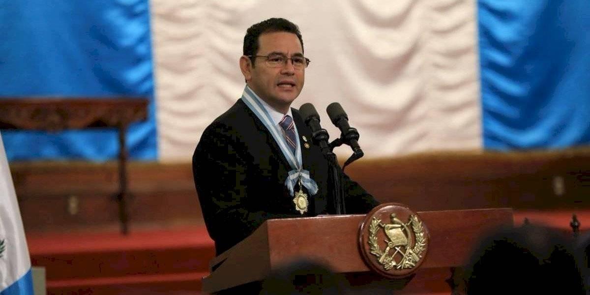 """Jimmy Morales explica cómo es """"presidir en el diluvio"""""""