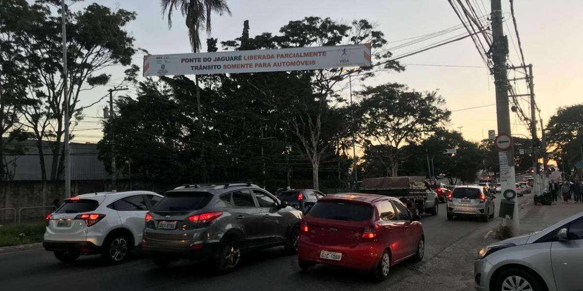 Prefeitura faz novos testes na estrutura da ponte do Jaguaré