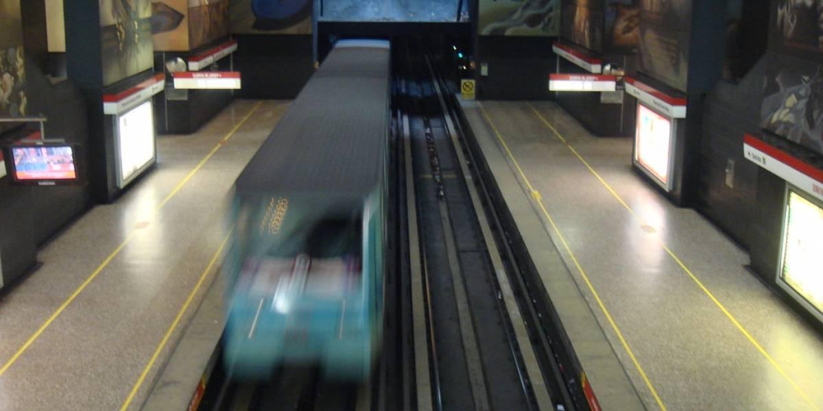 Esta es la velocidad promedio de todas las línea del Metro de Santiago