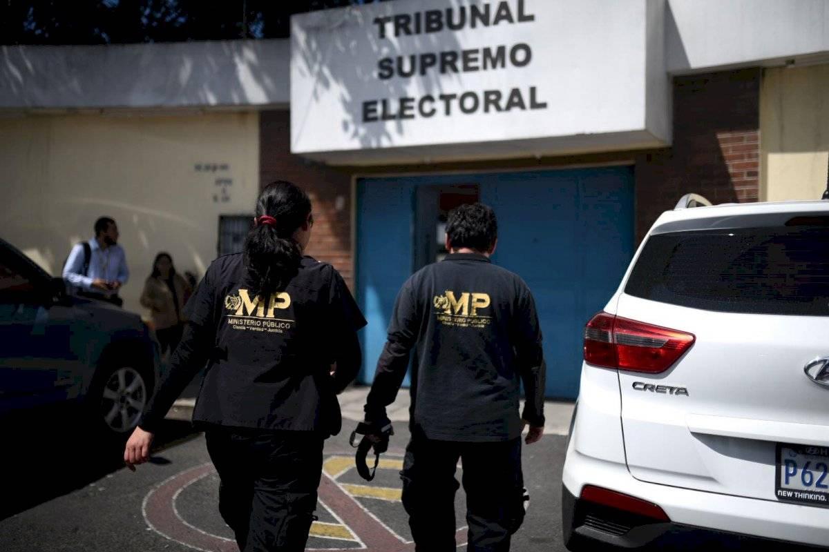 Allanamiento del MP en el TSE