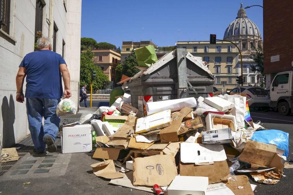Crisis de la basura en Italia Foto: AP