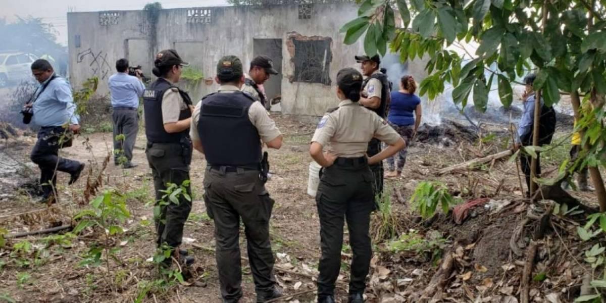 Los restos de una mujer fueron hallados en una hielera en Machala