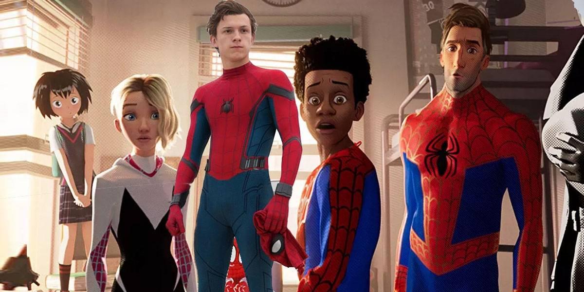Tom Holland iba a salir en Spider-Man: into the Spider-Verse