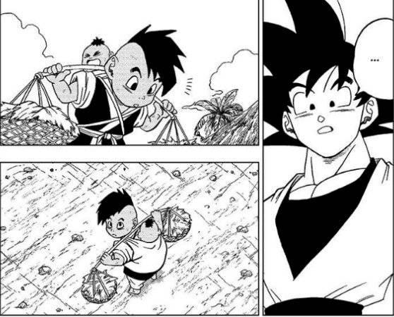Uub y Goku (Manga)