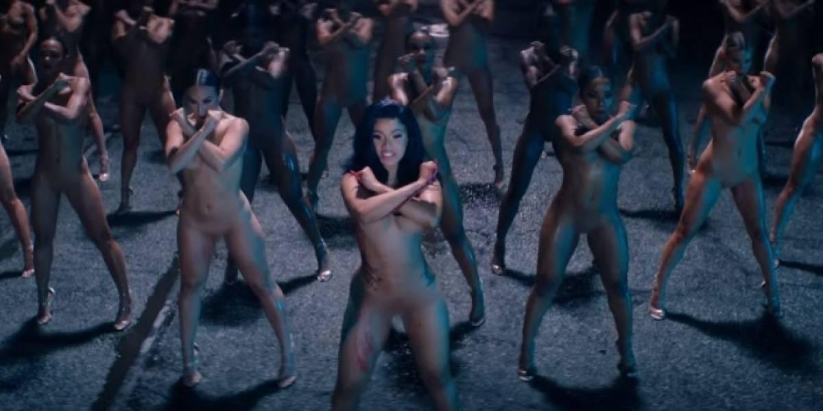 """Cardi B desafía la censura de Youtube desnuda en su nuevo video """"Press"""""""
