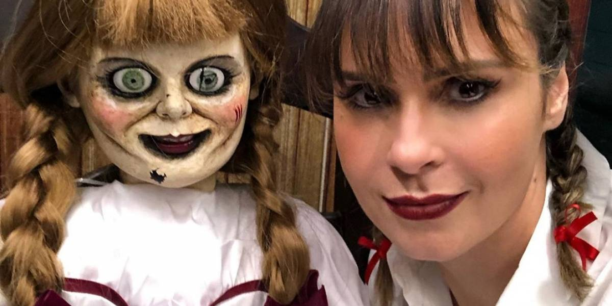 Chamada de 'Annabelle' em A Fazenda, Ana Paula vira garota propaganda do filme