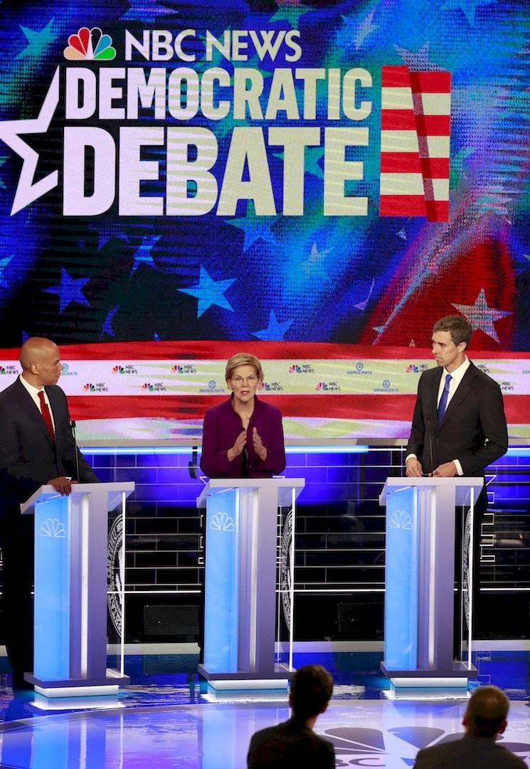 Debate de precandidatos del partido Demócrata Foto: Getty Images