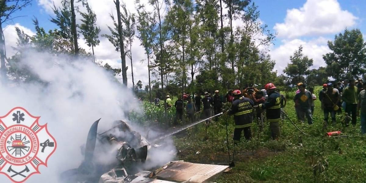 Dos estadounidenses sobreviven a accidente aéreo en Guatemala