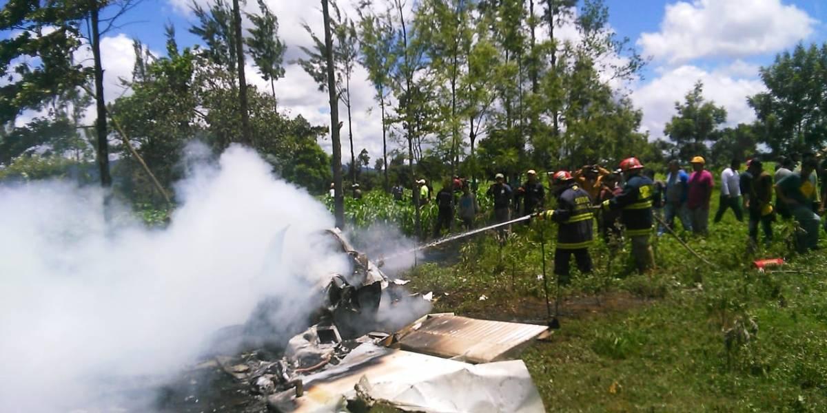 Avioneta se accidenta en Chimaltenango