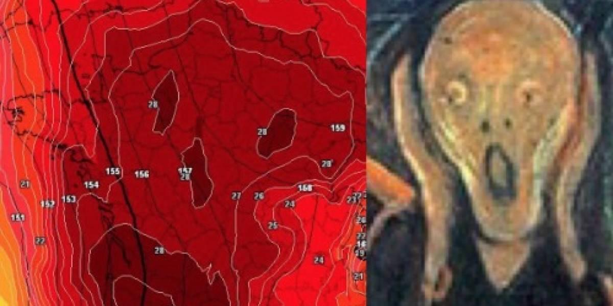 """Realmente """"el infierno está llegando"""" a Europa: meteorólogo comparte aterrador mapa de la ola de calor que elevará los termómetros sobre los 45°"""