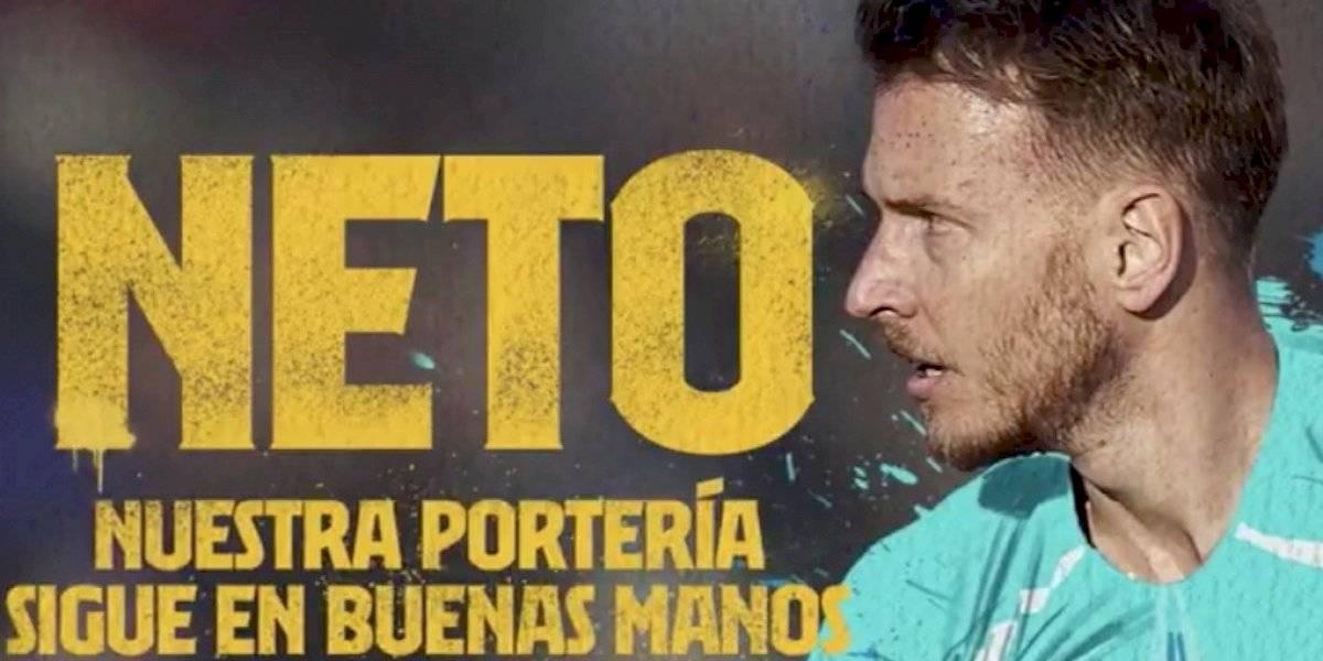 Barcelona le trae una dura competencia a Ter Stegen y confirma a Neto como su nuevo arquero