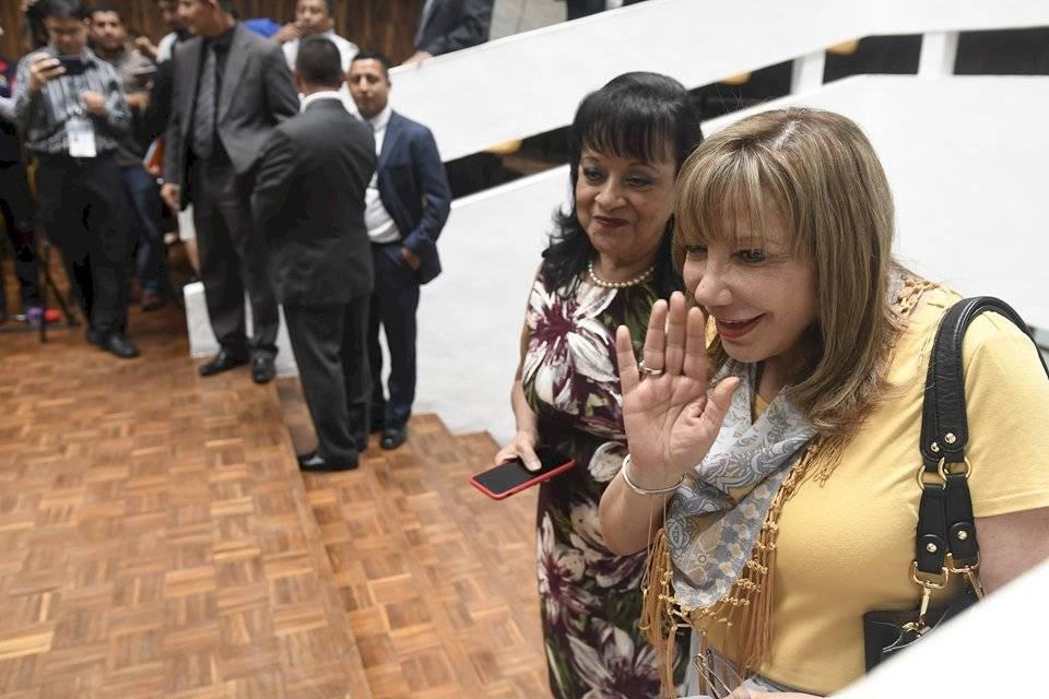La magistrada Silvia Patricia Valdés acudió a la asamblea de la Corte de Apelaciones para elegir representantes ante la comisión de postulación para CSJ. Foto: Omar Solís