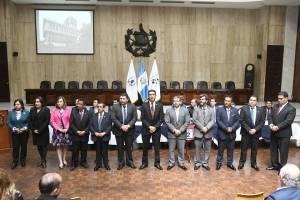 Representantes de la Corte de Apelaciones ante la comisión de postulación para CSJ.