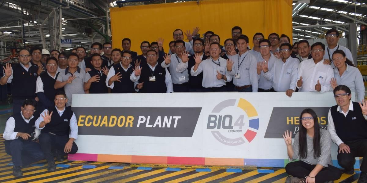 Planta de GM OBB de Ecuador obtuvo la recertificación BIQ 4