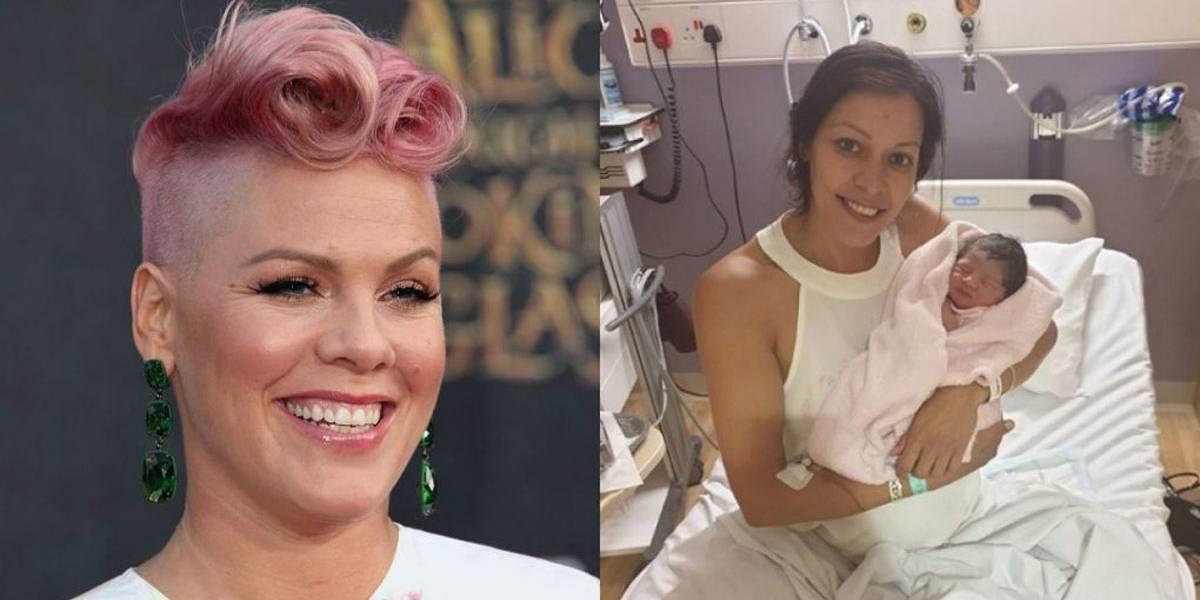 Inglesa dá à luz durante show de Pink e batiza bebê em homenagem à cantora
