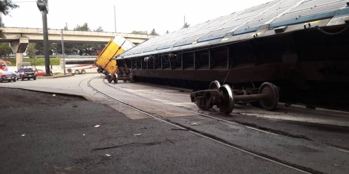 Se descarrilan vagones de tren en Toluca