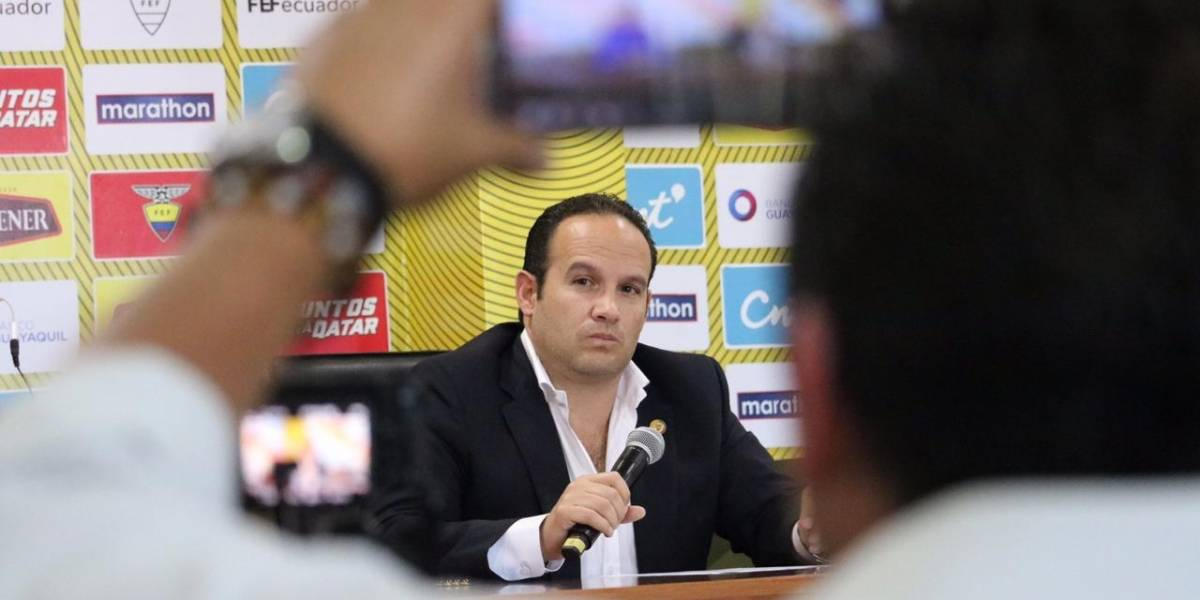 Francisco Egas reveló por qué Ecuador no juega con Selecciones de primer nivel
