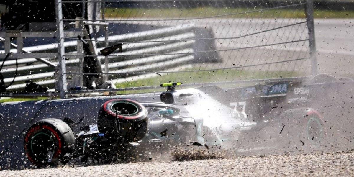 Bottas, Vettel y Verstappen sufren accidentes en prácticas del GP de Austria