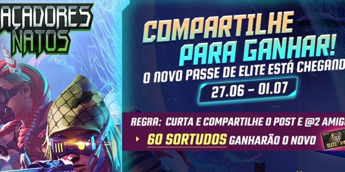 Caçadores Natos: Concurso premiará jogadores no Garena Free Fire