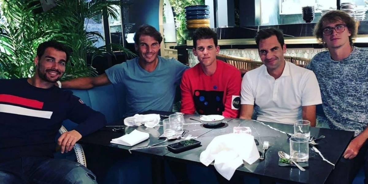 ¡Reunión de calidad! Estrellas del tenis cenan previo a Wimbledon