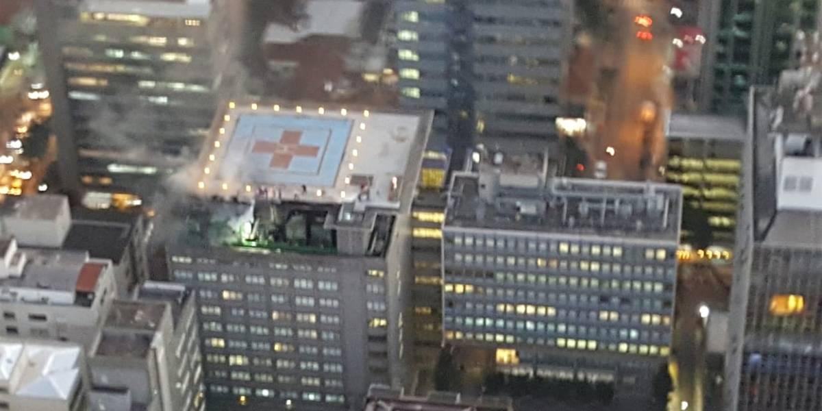 Incêndio atinge cobertura do Hospital do Coração, em São Paulo