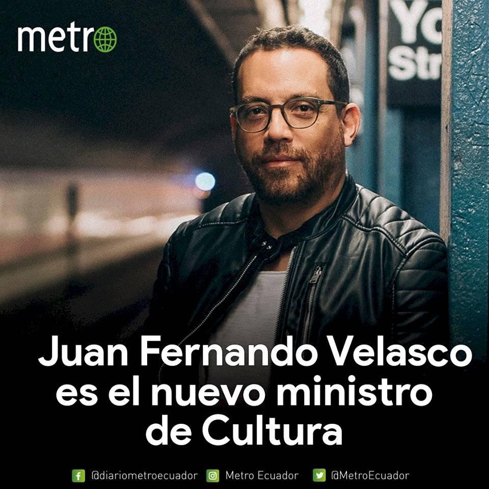 Juan Fernando Velasco, nuevo ministro de Cultura