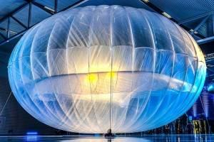 Uno de los globos del proyecto Loon.