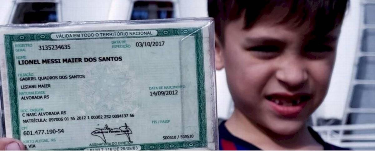 Lionel Messi niño