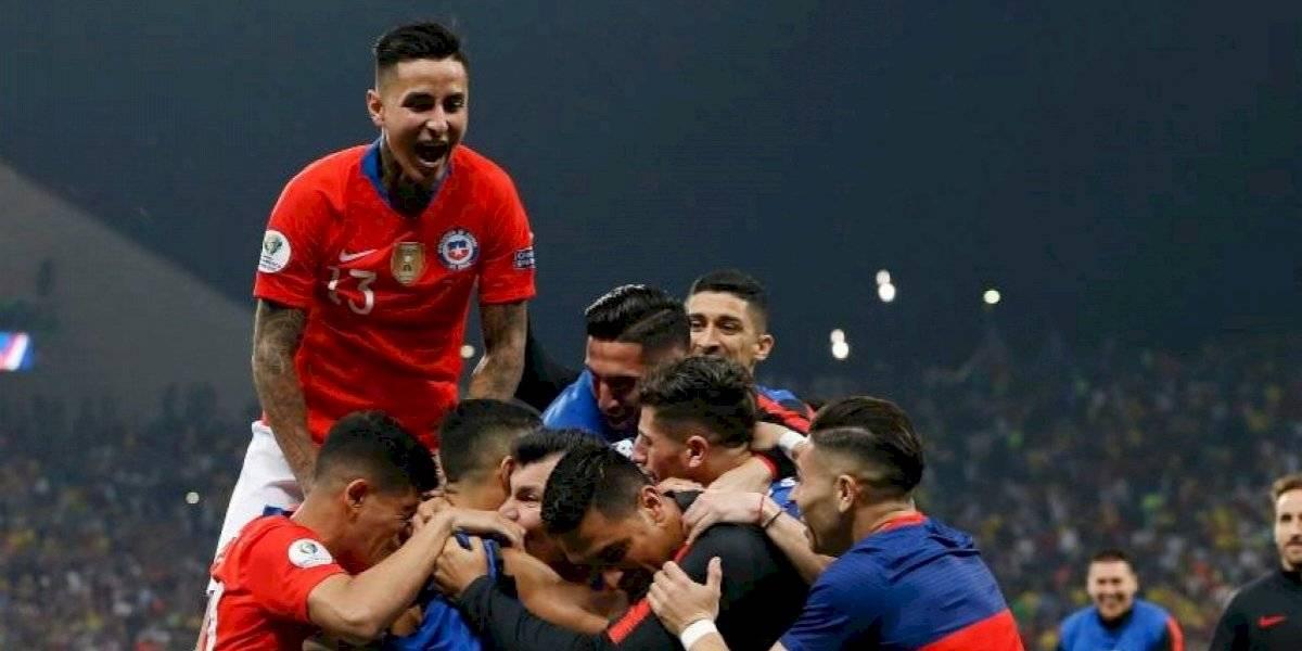 Justicia divina: Erick Pulgar se mofó de la celebración de Yerry Mina luego del triunfo de Chile