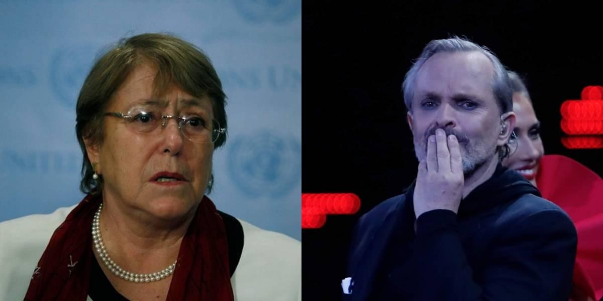 """Miguel Bosé arremete contra Michelle Bachelet: """"Patética, sin autoridad ni eficacia... merece el más alto desprecio"""""""