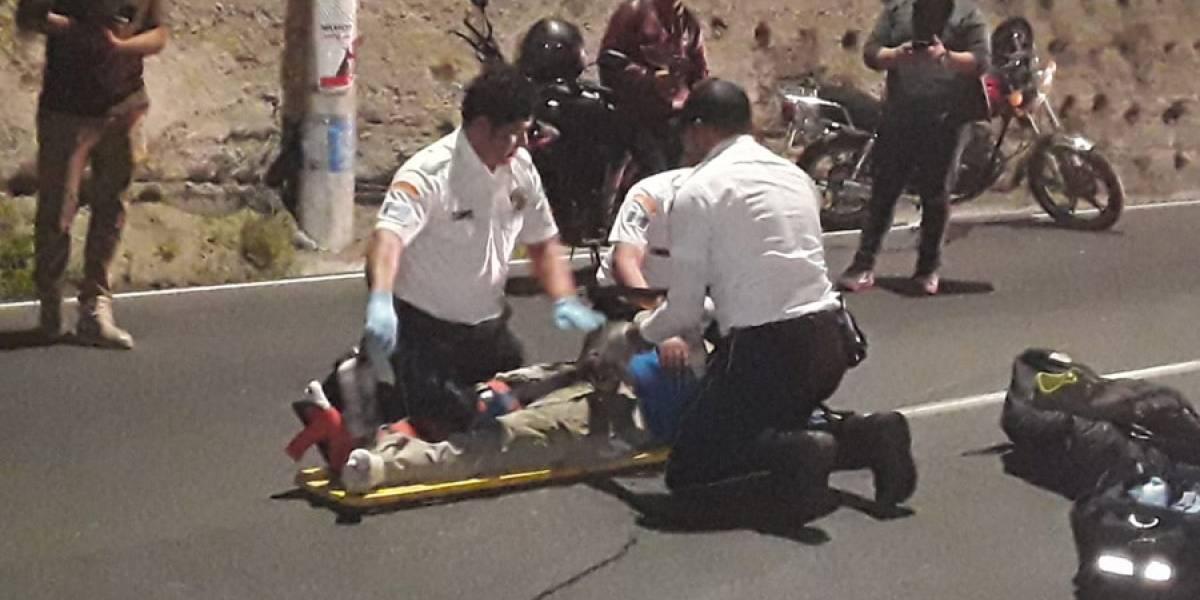 VIDEO. Motociclistas se accidentan en distintos puntos de la ruta al Pacífico
