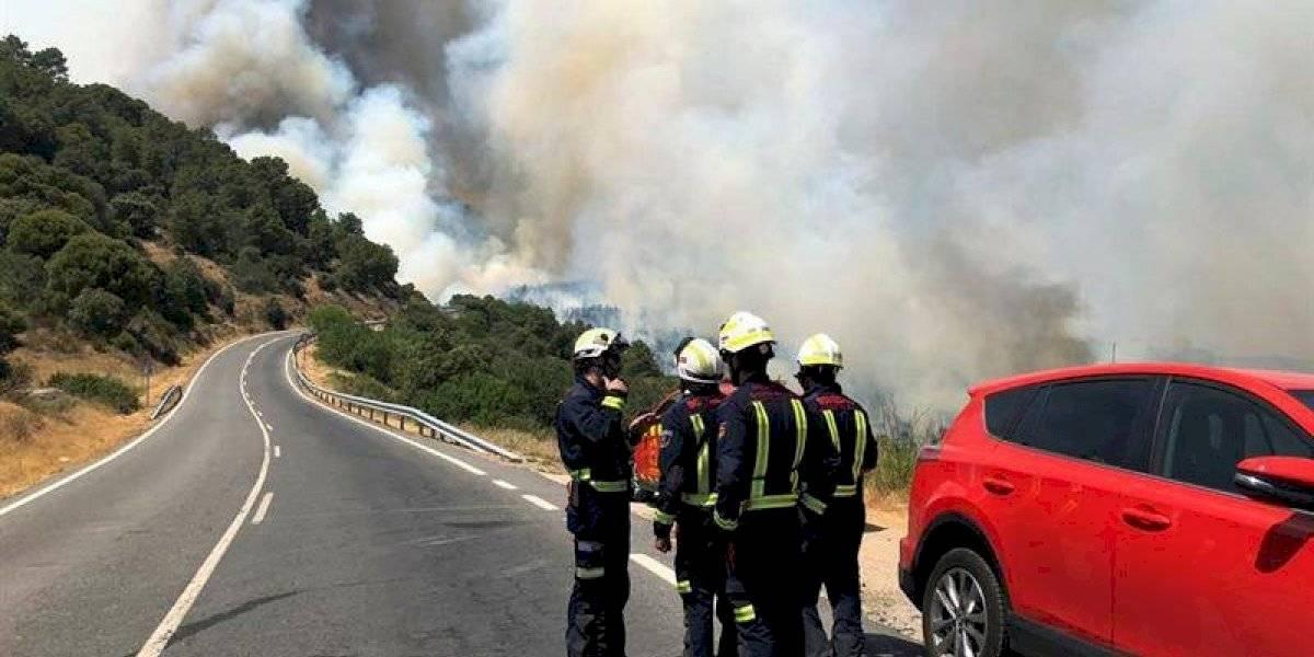 Gran incendio activo en España ha quemado 4 mil hectáreas