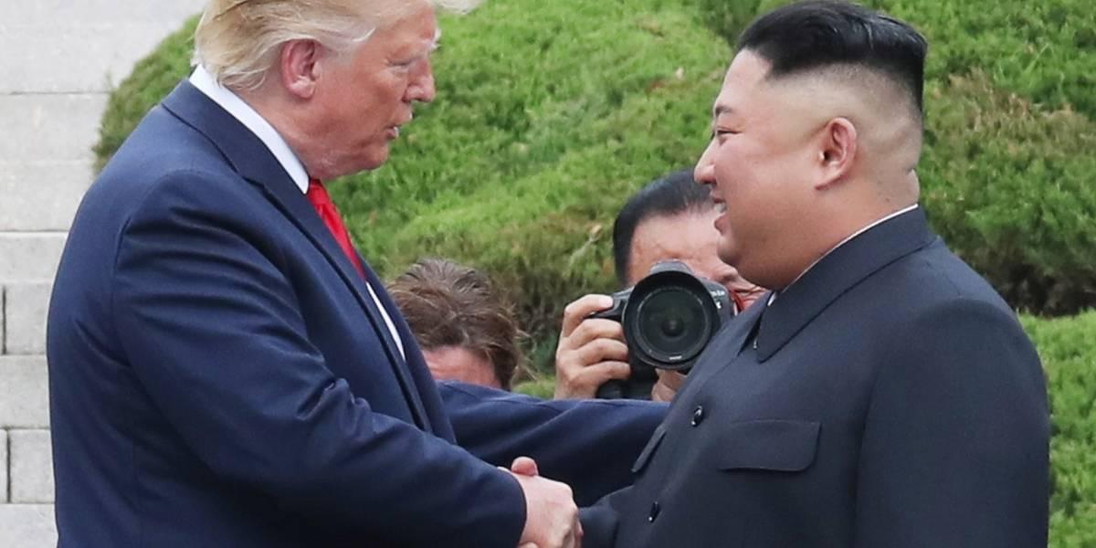 Donald Trump celebra un histórico encuentro con Kim Jong-un en la frontera intercoreana