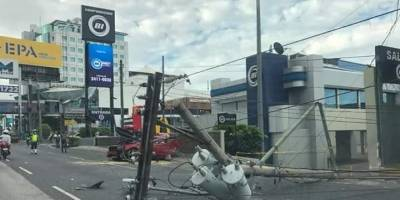 Accidente de tránsito en la zona 10 de la capital.