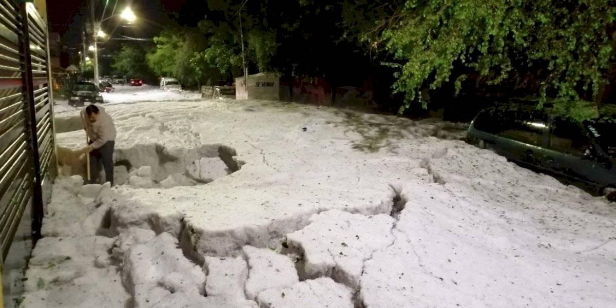 Guadalajara amanece cubierta de hielo tras granizada