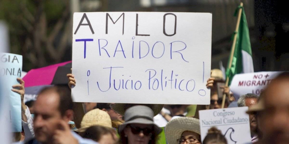 Marchan contra el gobierno de AMLO