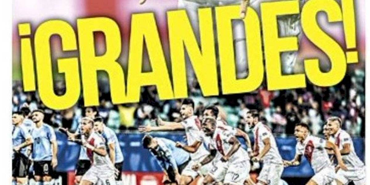 """""""¡Grandes!"""" y """"Puro orgullo"""": Las portadas de Perú deliraron con la clasificación a semifinales de Copa América"""