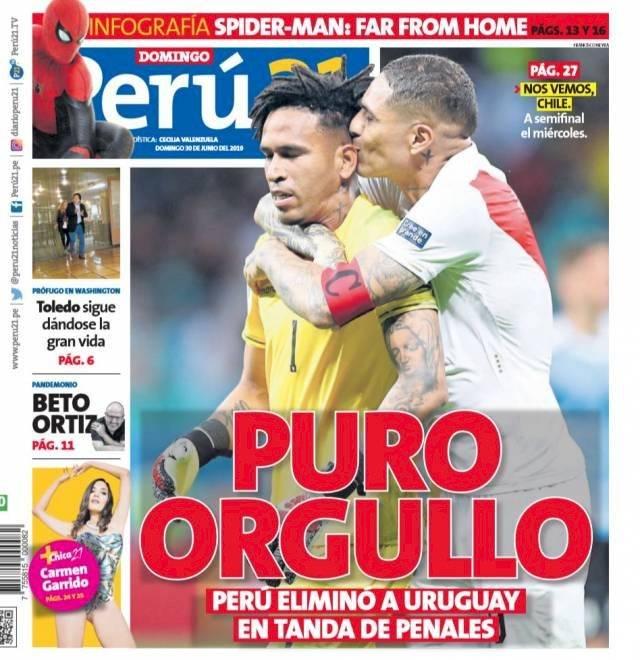 Prensa peruana destaca triunfo de su selección. Prensa peruana