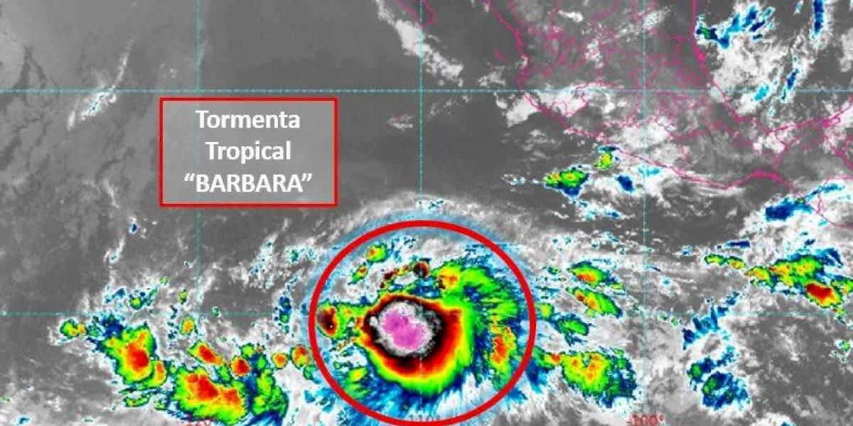 Se formó la tormenta tropical Bárbara en el Océano Pacífico